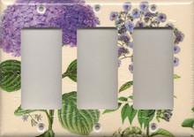 Purple Hydrangea - Triple GFI/Rocker