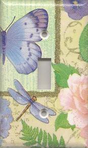 Purple Dragonfly & Butterfly - Single Switch
