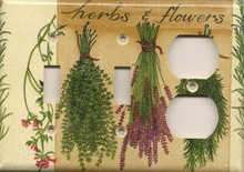 Herbs & Flowers - Triple Combo Switch & Switch & Outlet
