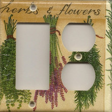 Herbs & Flowers - Double Combo GFI & Outlet