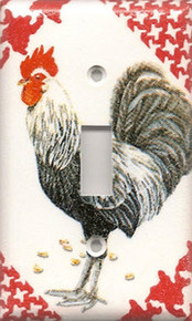 Black & White Rooster - Single Switch