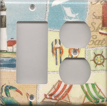 Beachy Things - Double Combo GFI & Outlet