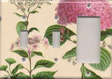 Pink Hydrangea - Triple Combo Switch & Switch & GFI/Rocker