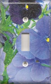 Purple Pansies - Single Switch
