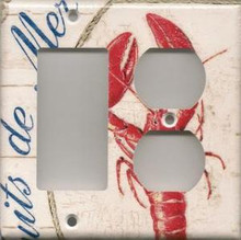 Lobster - White - Double Combo GFI & Outlet