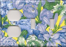 Blue & Yellow Flowers - Triple Combo Outlet & Switch & Switch