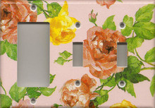 Roses - Pink - Triple Combo GFI & Switch & Switch