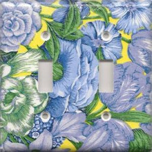 Blue & Yellow Flowers - Double Switch