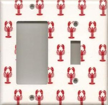 Little Red Lobsters - Double Combo GFI & Switch
