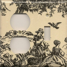 Black Toile - Double Combo Outlet & Switch