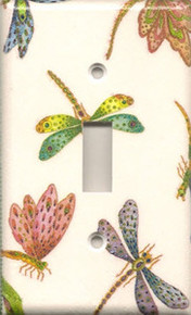 Colorful Dragonflies - Single Switch