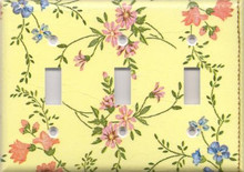 Country Flowers - Yellow - Triple Switch