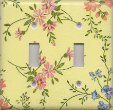 Country Flowers - Yellow - Double Switch