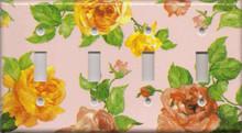 Roses - Pink - Quadruple Switch