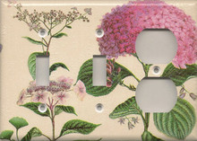 Pink Hydrangea - Triple Combo Switch Switch Outlet