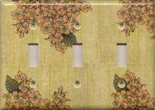 Vintage Flowers - Triple Switch