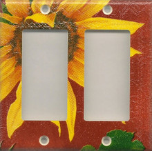 Sunflowers - Red - Double GFI/Rocker