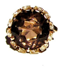 Vintage Smokey Topaz Ring