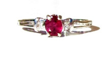 Vintage Ruby and Diamond 14K Ring
