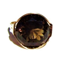 Vintage Smokey Topaz 14K Gold Ring