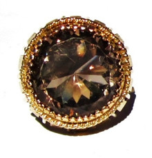 Vintage Smokey Topaz 14K Ring