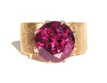 Vintage 5 Carat Garnet Ring