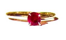Vintage Ruby Solitaire 14K Ring