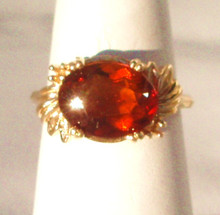 Vintage Mandarin Garnet 14K Ring