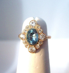 Antique Victorian Spinel and Sapphire Ring