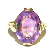 Antique Art Deco Amethyst 14K Ring