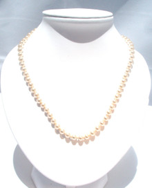 Vintage Pearl Necklace with 14K Gold Pearl Clasp