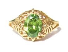 Vintage Peridot 14K Ring