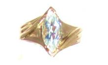 Vintage Aquamarine Marquise Cut Ring