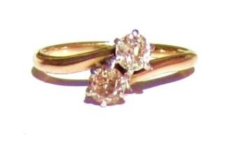 ... Chocolate Diamond Engagement Ring. Image 1