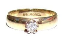 Rose Cut Diamond Wedding Band