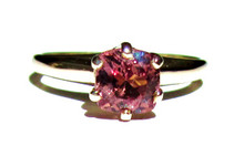 East African Color Change Garnet Solitaire Ring