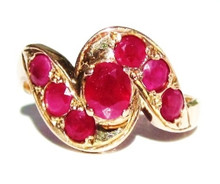 Vintage Ruby 18K Gold Ring