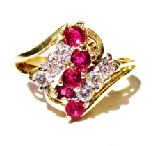 Vintage Ruby & Diamond Waterfall Ring