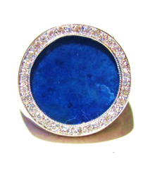 Lapis Lazuli and Diamond 14K Ring