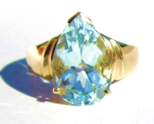 Aquamarine Solitaire 14K Ring