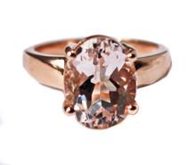 Morganite 14K Ring