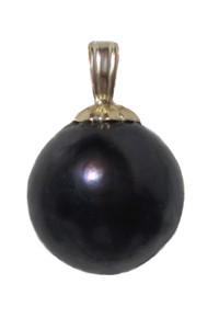10.5 mm Tahitian Black Pearl 14K Pendant