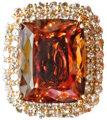 Imperial Topaz & Diamond Pendant and Brooch