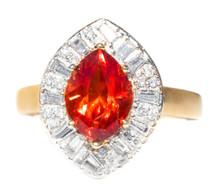 Rhodochrosite and Diamond Ring