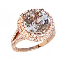 Danburite & Diamond Ring