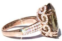 Diaspore & Diamond 18K Ring