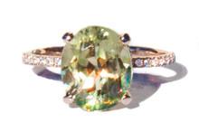 Diaspore & Diamond 14K Ring