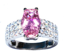 Pink Tourmaline & Diamond 18K Ring