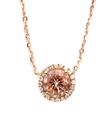 Morganite & Diamond 18k Necklace