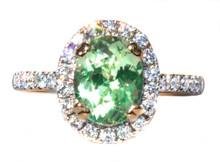 Merelani Mint Garnet & Diamond 18k Ring